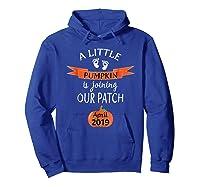 Halloween Pregnancy Announcet Tshirt Pumpkin April 2019 Hoodie Royal Blue