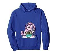 Kawaii Baby Unicorn Eating Ra Noodles Food Gift T-shirt Hoodie Royal Blue