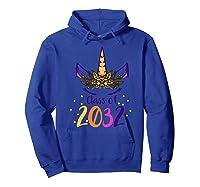 Unicorn Face Class Of 2032 First Day Kindergarten Girls Gift Shirts Hoodie Royal Blue