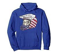 Usa Flag American Skull Helmet Patriotic Motorcyclist T Shirt Hoodie Royal Blue
