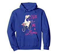 Floral Breast Cancer Awareness Month Figth Premium T Shirt Hoodie Royal Blue