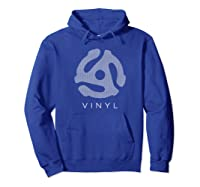 45 Rpm Record Adapter T Shirt - With Speaker Mesh Effect Hoodie Royal Blue