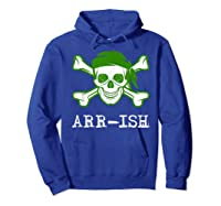 Funny Arrish Sugar Skull St Saint Patricks Day Shirts Gift Hoodie Royal Blue