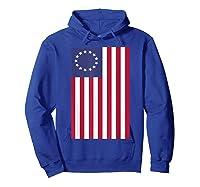 Patriotic 1776 American Betsy Ross Flag T-shirt Hoodie Royal Blue