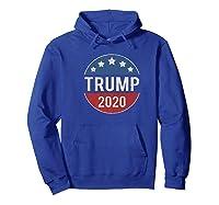 Donald Trump 2020 Retro Button Vintage Patriotic July 4th Shirts Hoodie Royal Blue
