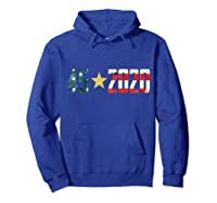 452020 Donald Trump America Re Election T Shirt Gift Hoodie Royal Blue