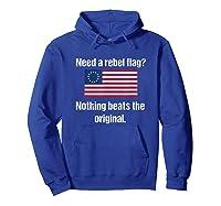 The Original Rebel Colonial Flag T Shirt Hoodie Royal Blue