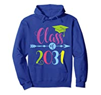 Class Of 2031 Grow With Me Kindergarten Graduate Gift T-shirt Hoodie Royal Blue