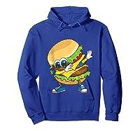 Cool Dabbing Burger Funny Street Dancer Hamburger Lover Gift Tank Top Shirts Hoodie Royal Blue