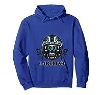 Carolina Football Helmet Sugar Skull Day Of The Dead T Shirt Hoodie Royal Blue
