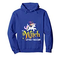 Unicorn Pony This Witch Is Spook Tacular Cute Girls Kawaii Shirts Hoodie Royal Blue