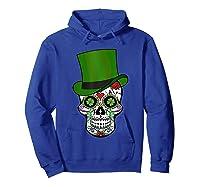 Sugar Skull St Patrick S Day T Shirt Saint Patty S Day Gift Hoodie Royal Blue