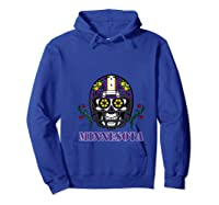 Minnesota Football Helmet Sugar Skull Day Of The Dead T Shirt Hoodie Royal Blue
