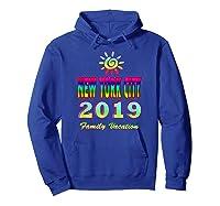 New York City Family Vacation 2019 Spiral Sun Rainbow T Shirt Hoodie Royal Blue