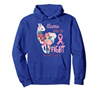 Floral Breast Cancer Awareness Month Here To Fight Premium T Shirt Hoodie Royal Blue