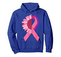 Sunflower Breast Cancer Awareness Month Gift T Shirt Hoodie Royal Blue
