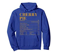 Ry Pie Nutrition Facts Gift Funny Thanksgiving Costume Shirts Hoodie Royal Blue