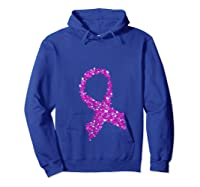 Breast Cancer Awareness Month Pink Ribbon Heart T Shirt Hoodie Royal Blue