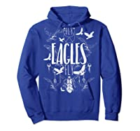 Fly Eagles Fly Funny Sport And Wildlife Animal Back Print Shirts Hoodie Royal Blue