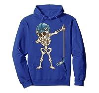 Dabbing Skeleton Hockey Halloween Gift Shirts Hoodie Royal Blue