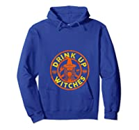 Witch Shirts For Halloween Drink Up Witches Tank Top Hoodie Royal Blue
