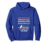 Bookworm Girl Cats Lover Reading And Pets Gift Out T Shirt Hoodie Royal Blue