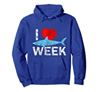 I Wait All Year For This Week T-shirt Funny Shark Tee Hoodie Royal Blue