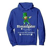 Saint Paddy S Dabbing Shenanigator St Patrick S Day T Shirt Hoodie Royal Blue