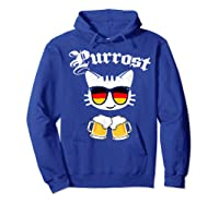 Oktoberfest Prost Purrost Funny Pun Purrost Cat Beer 2019 T-shirt Hoodie Royal Blue