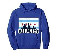 Chicago Flag Skyline Shirt Chi Town Pride City Flag Gift T Shirt Hoodie Royal Blue