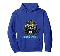Jacksonville Football Helmet Sugar Skull Day Of The Dead T Shirt Hoodie Royal Blue