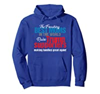 Funny Trump 2020 Best Moms Raise Trump Supporters Election T Shirt Hoodie Royal Blue
