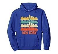 Retro New York City Skyline Pop Art Shirt Hoodie Royal Blue