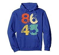 Retro 70s Vintage Impeach Trump 8645 Shirt 86 45 Tshirt Hoodie Royal Blue