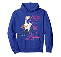 Floral Breast Cancer Awareness Month Figth T Shirt Hoodie Royal Blue