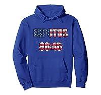 Ex Potus 8645 Anti Trump Distressed Pro Impeach 45 Tshirt Hoodie Royal Blue