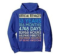 Nager Vintage 13 Years Birthday N Gifts Shirts Hoodie Royal Blue
