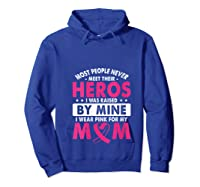 I Was Raised By Mine I Wear Pink For My Mom Breast Cancer T Shirt Hoodie Royal Blue