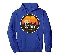Vintage Retro Lake Tahoe Nevada Shirts Hoodie Royal Blue