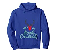 Merry Xmas Antlers Kettlebell Weightlifting Ness Workout Shirts Hoodie Royal Blue