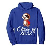 Sloth Class Of 2032 Back To School Gift Shirts Hoodie Royal Blue