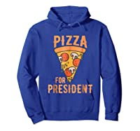 Impeach Trump Pizza For President Pizza Lovers T Shirt Hoodie Royal Blue