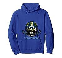 La Los Angeles Football Helmet Sugar Skull Day Of The Dead T Shirt Hoodie Royal Blue