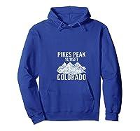 Pike's Peak Rocky Mountains Colorado T Shirt T-shirt Hoodie Royal Blue