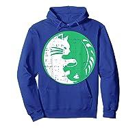 Area 51 Alien Cat Yin Yang Easy Lazy Kitten Halloween Gift Shirts Hoodie Royal Blue