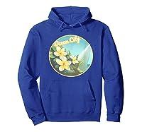 Ocean City Maryland Surfing Flower T Shirt Hoodie Royal Blue