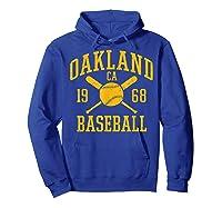 Oakland Baseball Vintage Oak Pride Retro Distressed Gift Shirts Hoodie Royal Blue