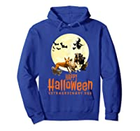Happy Halloween With Extraordinary Dogs And Cats T Shirt Hoodie Royal Blue