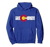 Colorado State Flag Vintage Colorado Day Gift Shirts Hoodie Royal Blue