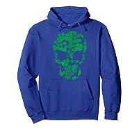 Saint Patrick S Day Shamrocks Skull T Shirt Hoodie Royal Blue